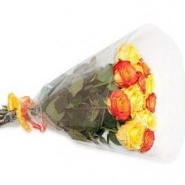 11 orange and yellow roses