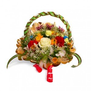 basket 24 mix seasonal flower