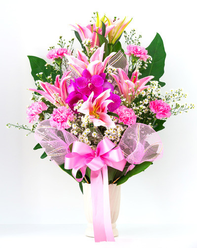 photodune 3732378 bouquet of canation lily and orchid xs