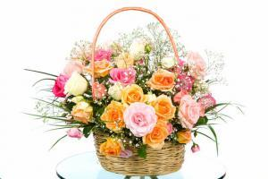 photodune 5130056 basket with colored roses xs