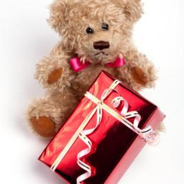 Teddy + box of chocolates