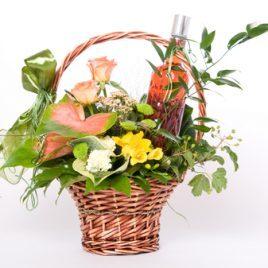 Bacardi 'n Flowers basket