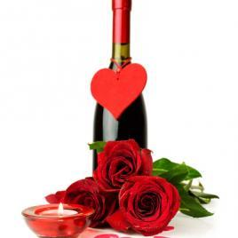 Red roses&wine